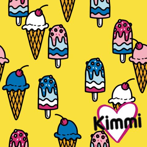 Kimmi, luomupuuvillatrikoo: Icecream, keltainen