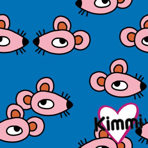Kimmi, luomupuuvillatrikoo: Mouse, sininen