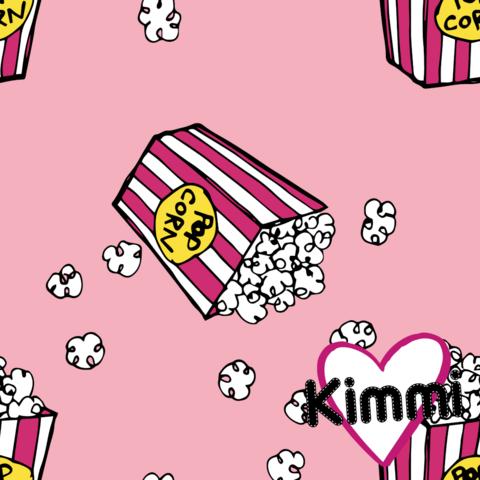 Kimmi, luomupuuvillatrikoo: Popcorn, vaaleanpunainen