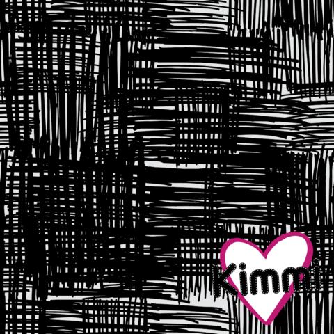 Kimmi, luomupuuvillatrikoo: Scribble, musta-valkoinen