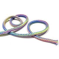 Pyöreä multicolor polyesterinyöri 5mm