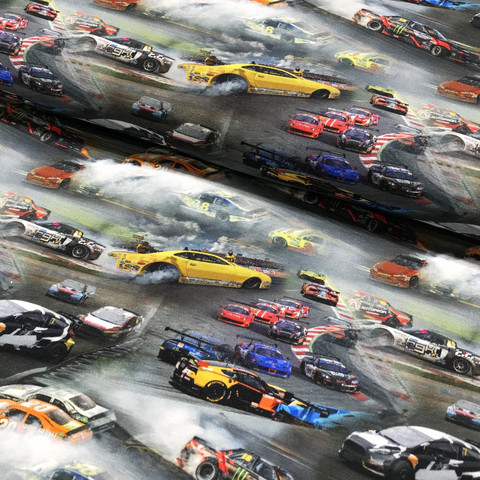 Digitrikoo: Kilpa-autot, monivärinen - harmaa