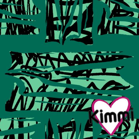 Kimmi, luomupuuvillatrikoo: Ribs, vihreä