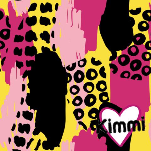Kimmi, luomupuuvillatrikoo: Abstract, keltainen
