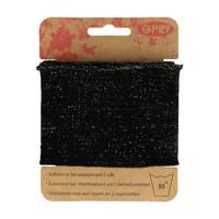 Opry: Reunaresori 6,5cm x 1,1m, glitteri - musta