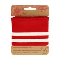Opry: Reunaresori 6,5cm x 1,1m, raita puna - valkoinen