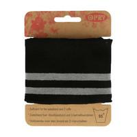 Opry: Reunaresori 6,5cm x 1,1m, raita musta - harmaa