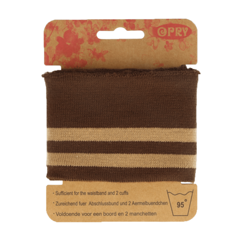 Opry: Reunaresori 6,5cm x 1,1m, raita ruskea - beige
