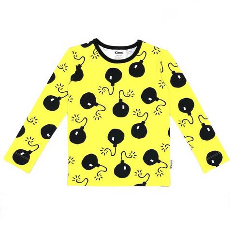 Pitkähihainen paita: Bombs, keltainen