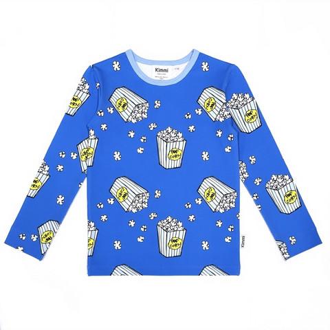 Shirt: Popcorn, blue