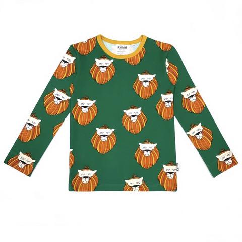 Pitkähihainen paita: Lion, metsänvihreä