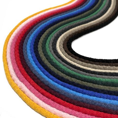 Pyöreä paksu puuvillanyöri 6mm - 1m, useita värejä