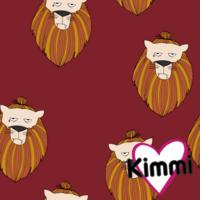 Kimmi, organic sweatshirt knit: Lion, wine