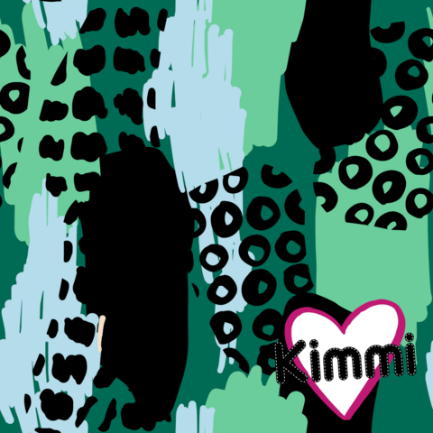 Kimmi, organic sweatshirt knit: Abstract, green