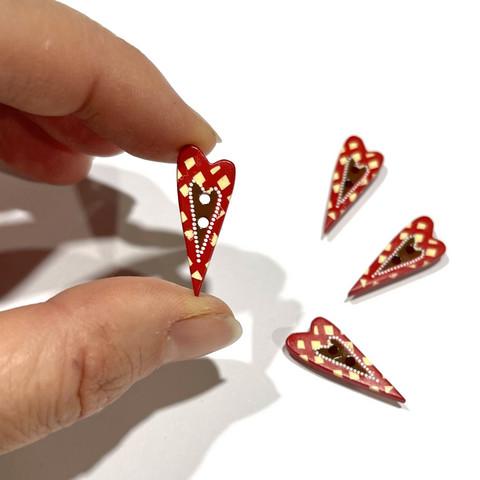 Prym: Nappi punainen sydän 25mm