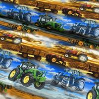 Digitrikoo: Traktorit, sini - ruskea