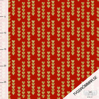 Tygdrömmar, luomutrikoo: Golden hearts, punainen