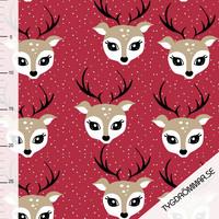 Tygdrömmar, luomutrikoo: Debbie deer, punainen