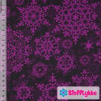Stofflykke: Lumihiutaleet, violetti