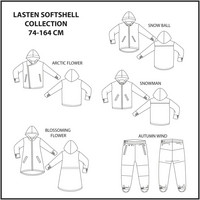 Jujuna, kaavapaketti: Lasten Softshell Collection 74-164 cm
