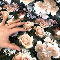 Digitrikoo: Sweet roses, nude - musta