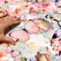 Digitrikoo: Butterflies and flowers, monivärinen