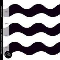 Kuosiverstas, luomutrikoo: Iso Aalto, mustavalkoinen