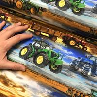 Digitrikoo: Traktorit, sininen - ruskea