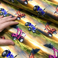 Digitrikoo: Traktorit, Pinkki - punainen - violetti