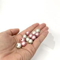 Heijastavat helmet, hopea ja roosa 12mm, 10kpl