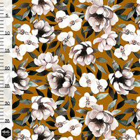 Mieli Design, luomutrikoo: BLUSH BLOOM, golden caramel
