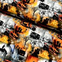 Digitrikoo: Fire - caution, harmaa - musta - oranssi