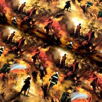 Digitrikoo: Wildfire, musta - oranssi