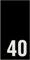 Kokomerkki - 40 - 10kpl