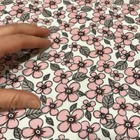 Puuvilla: Pikkukukat, roosa