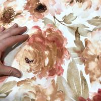 Bambutrikoo: Isoja kukkia, roosa - beige - valkoinen