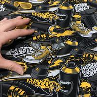 Digitrikoo: Style, musta - harmaa - keltainen