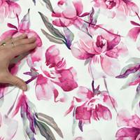Digitrikoo: Flowers, pinkki - valkoinen