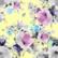 Luomupuuvillatrikoo: Summer flowers, vaaleankeltainen