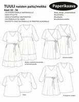 Sala Design: Tuuli, naisten paita/mekkokaava
