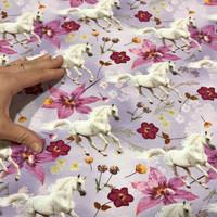 Digitrikoo: Hevoset ja kukat, violetti
