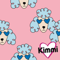 Kimmi, Organic jersey: poodle, pink