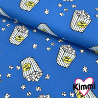 Kimmi, luomupuuvillatrikoo: Popcorn, sininen