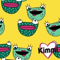 Kimmi, luomupuuvillatrikoo: Frogs, keltainen