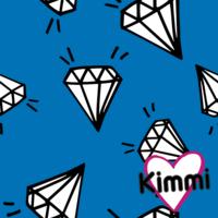 Kimmi, Organic jersey: Diamond, blue