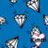 Kimmi, luomupuuvillatrikoo: Diamond, sininen