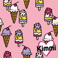 Kimmi, Organic jersey: Icecream, pink