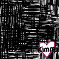 Kimmi, Organic jersey: Scribble, black