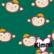 Kimmi, luomupuuvillatrikoo: Monkey, vihreä