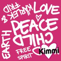 Kimmi, luomupuuvillatrikoo: Peace, pinkki